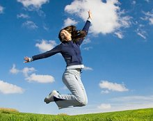About Me, Testimonials and Website links. Library Image: Jump for Joy